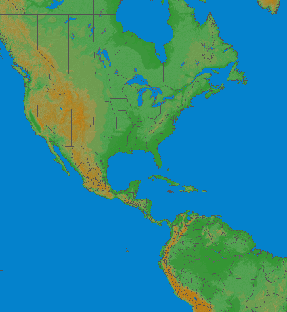 Lightning map North America 2018-09-23 (Animation)