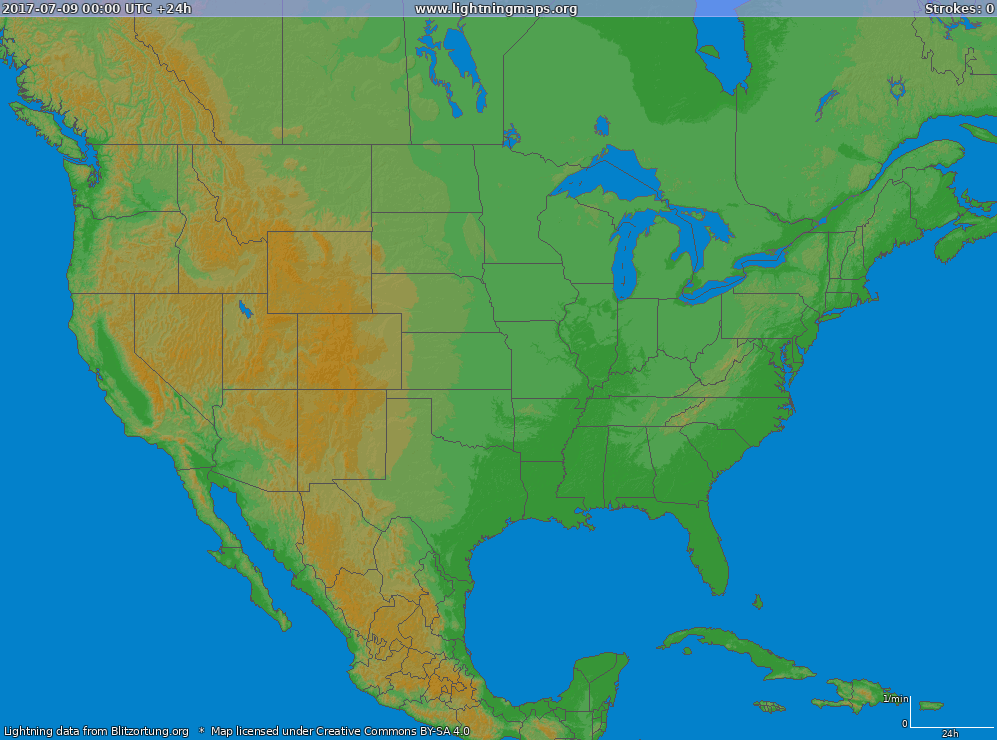 America :: Archives :: Maps :: USA (Big) :: LightningMaps.org