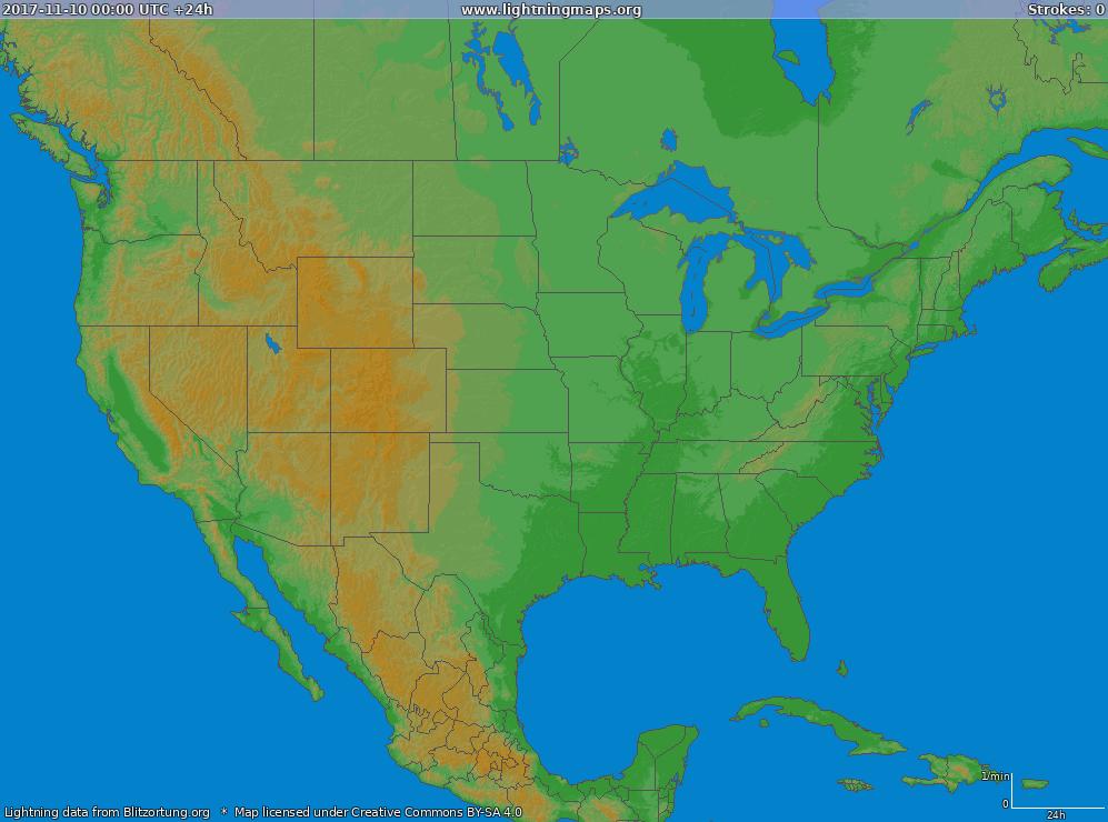 America Archives Maps USA Big LightningMapsorg - Lightning map us