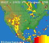 Blitzortung current US lightning strikes