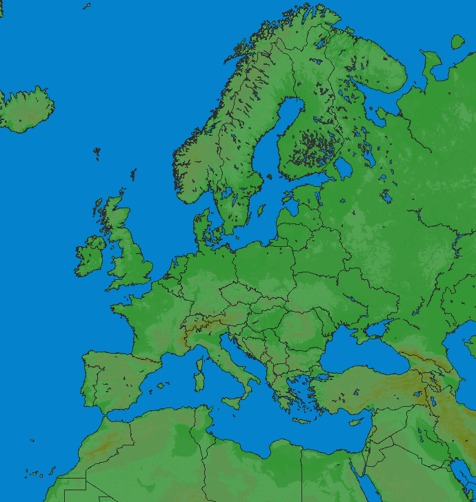 Lightning map Europe 2018-03-08 (Animation)