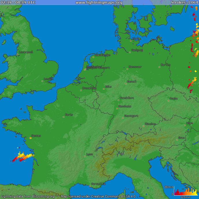 Blitzkarte deutschland