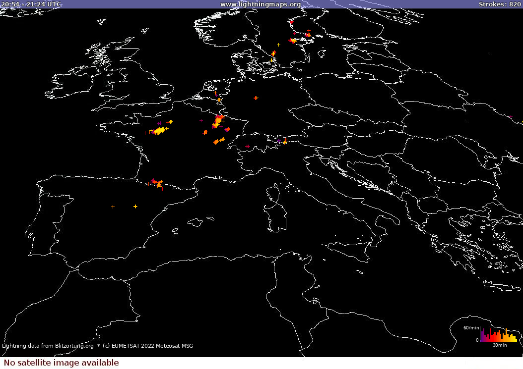 Zibens karte Sat: Europe Clouds + Rain 2020.12.05 18:17:37 UTC