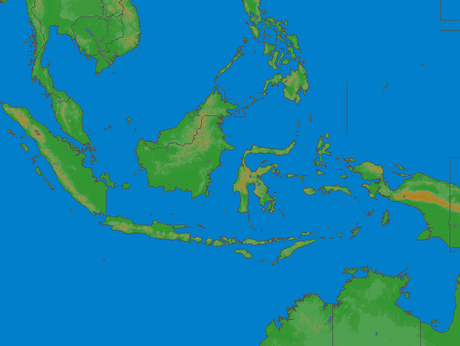 Lightning map Indonesia 2018-04-23 (Animation)