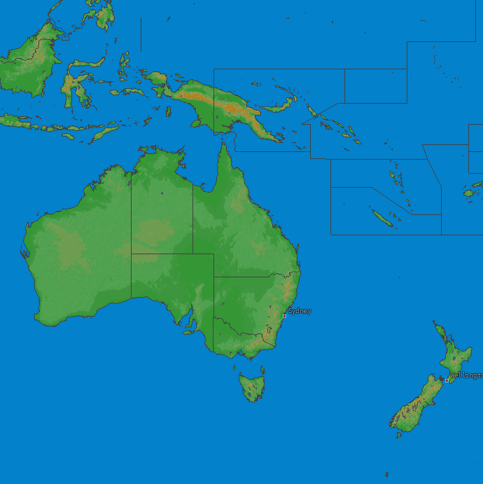 Carte de la foudre Oceania 12/12/2018 (Animation)