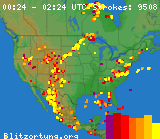 2 Hr. Lightning Map