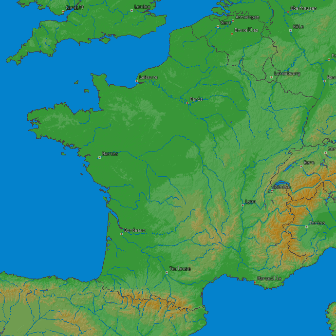 Europe :: Archives :: Maps :: France :: LightningMaps.org