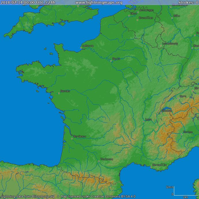 Karta Europa Tidszoner.Europa Historik Kartor Frankrike Lightningmaps Org