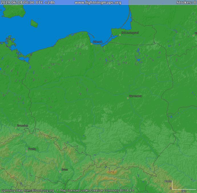 Polen Karte 2019.Europa Archiv Karten Polen Lightningmaps Org