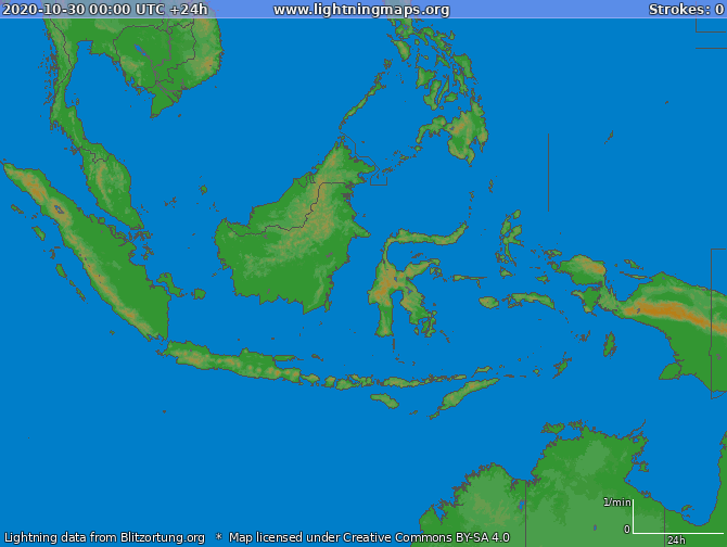 Lightning map Indonesia 2020-10-30